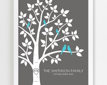 ... Wedding Family Tree Print Wedding Anniversary Gift for Her Engagement