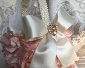 custom blush flower girl basket wedding baskets flower girls blush weddings blush flowers