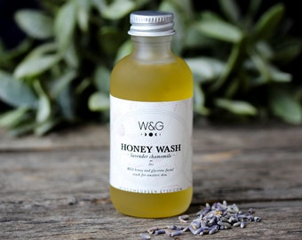 Honey Face Wash Natural Facial Cleanser Soapless Moisturizing Glycerin Lavender Chamomile Sensitive Skin Essential Oil Spa Treatment