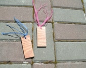 Set of Two Upcycled Wood Bookmarks - Small Hardwood Bookmarks Ready To Ship