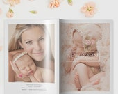 Newborn Photography Magazine Template, Photography Magazine Template for Photoshop, Digital Magazine Template - NM102