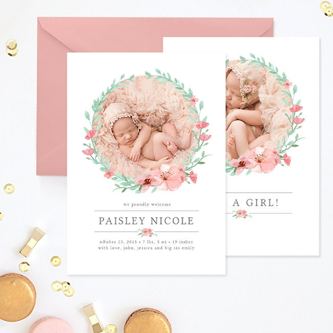 birth announcement template birth announcement template girl. Black Bedroom Furniture Sets. Home Design Ideas