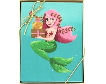 Birthday Mermaid Card - Set of 8