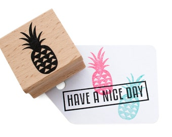 Pineapple rubber stamp - Large pineapple ink rubber stamp - tropical theme - for her - summer party stamp - tropical fruit stamp