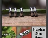 10 Stainless Steel Rings Dreadlock Beads 5mm 3/16' Hole