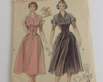 Vintage Butterick Pattern 5677 Button Front Casual Dress Misses Size 16