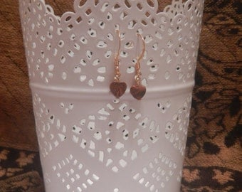 Red Jasper Heart Earrings in Gold