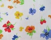 Vintage Sheet Fabric Fat Quarter - Bright Snapdragons