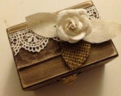 Vintage Rustic Engagement Wedding Ring Box Ring Bearer's Box