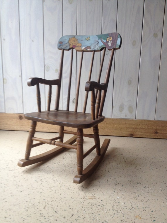 Vintage winnie the pooh rocking chair by wheretherobinsings