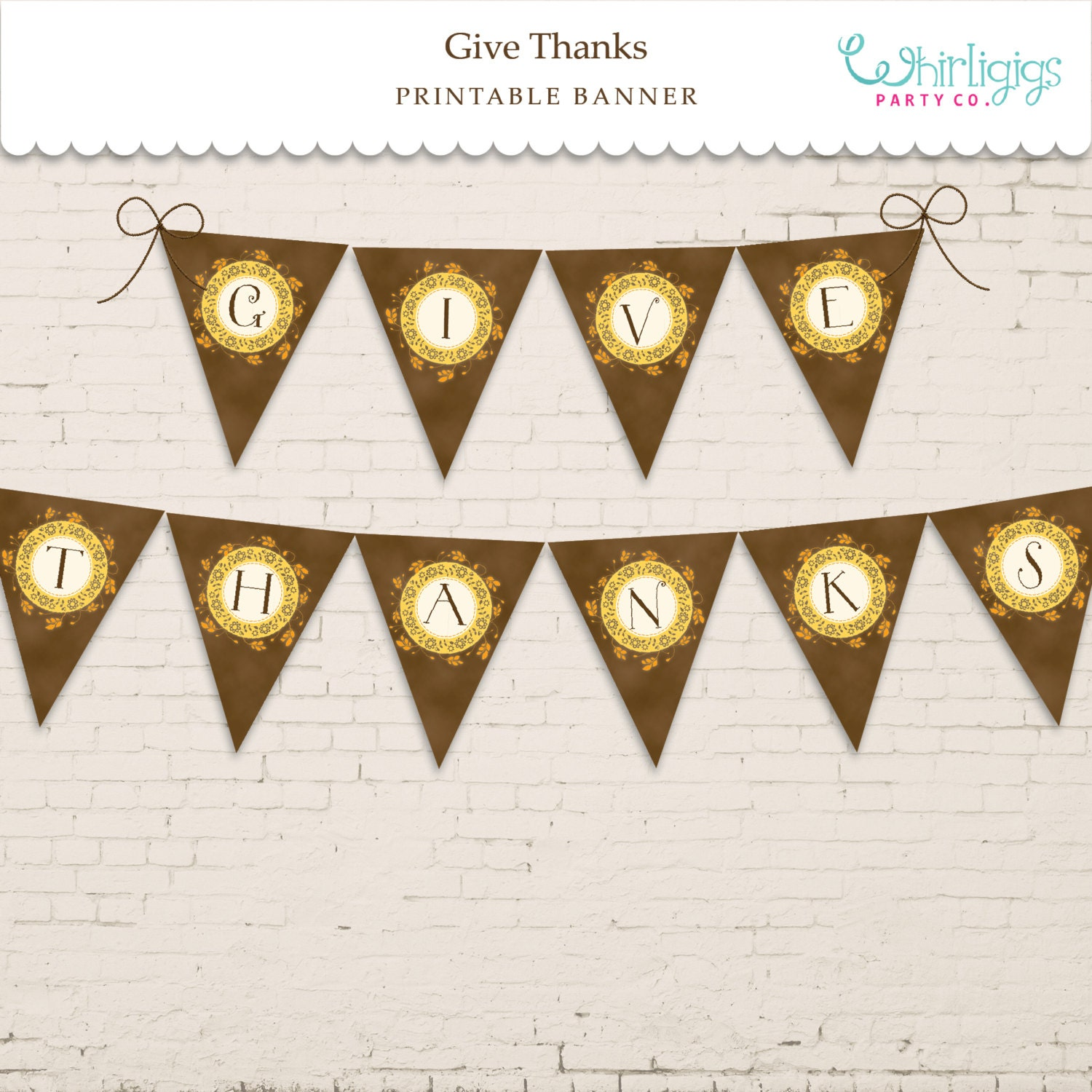 This is an image of Bright Give Thanks Banner Printable