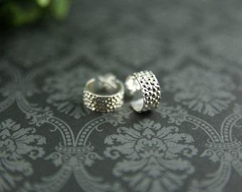 Stingray Sterling silver earrings