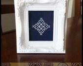 Snowflake #6 Cross Stitch PDF Pattern - Immediate Download from Etsy - Christmas Winter Series SugarStitch