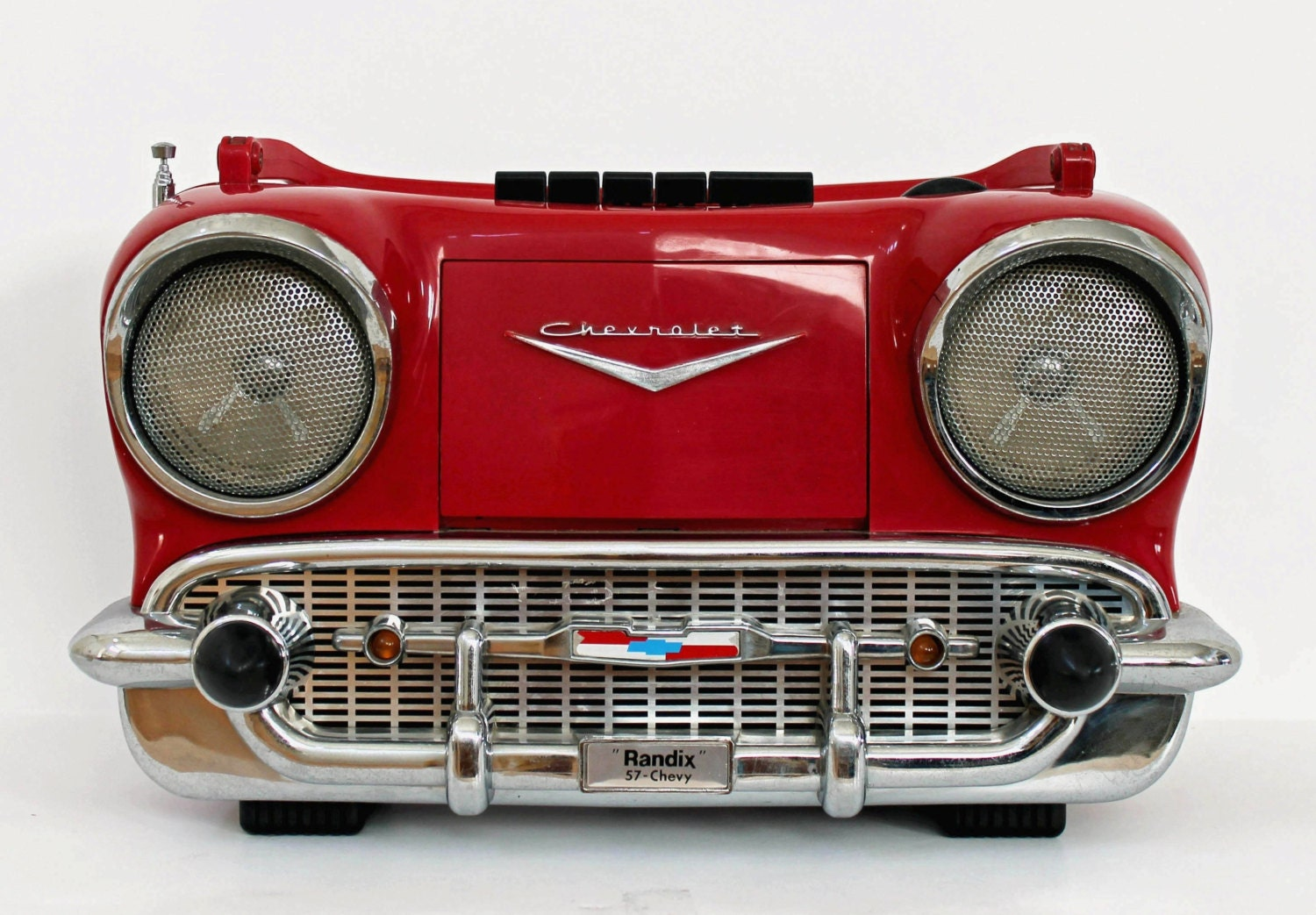 Vintage randix 57 chevy am fm novelty radio by abslewtlyvintage