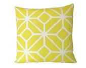 Yellow Outdoor Trina Turk Trellis Print Pillow Cover in Schumacher Fabric