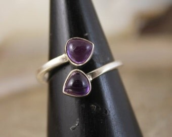 Ring améthyste duo