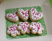 Frosted sugar cookies for American Girl dolls