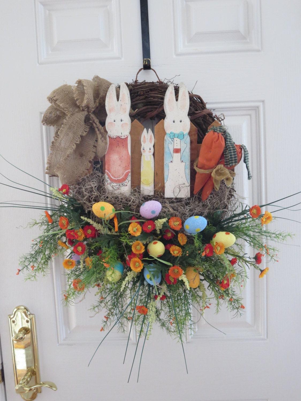 Easter Door Wreath Easter Wreath Spring Wreath Front Door