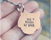 Owl Keychain - Owl Always Be Yours Key Ring - Valentine's Day Keychain - Copper Owl - Hearts - Couples Keychain