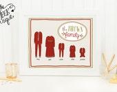 Personalized Christmas Printable, Pajama Family, No. 238