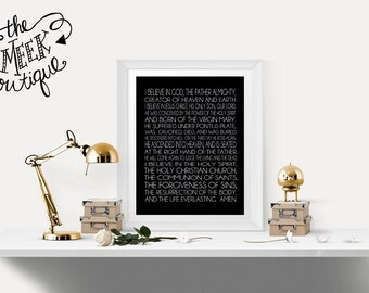 INSTANT DOWNLOAD, Apostle's Creed, Printable, No. 472
