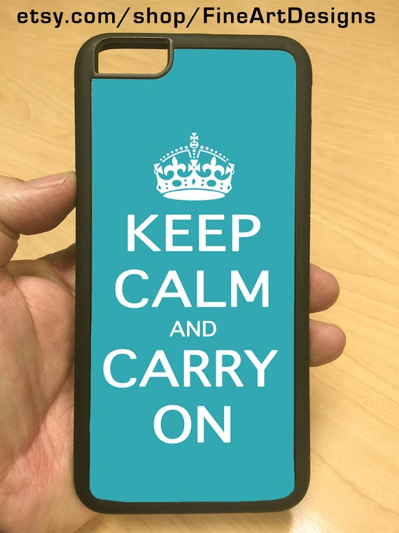 iPhone Case Keep Calm Carry On Turquoise iPhone 6/6+ iPhone 5/5s iPhone 4/4s