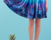 Lagoon - printed skirt