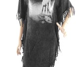 Unicorn tshirt women tshirt Maxi Dress clothing Long Dress bleached tshirt black tshirt screen print (Measurements - fits great from S - M)