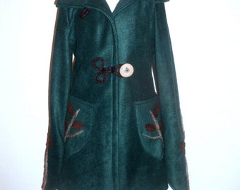 Made to Order Forest Fleece and Felt Jacket