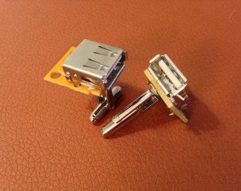 USB Port Cufflinks