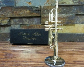 Personalized Miniature Trumpet - Music gift - Instrument (GTR20)