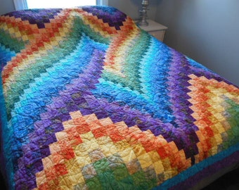Twist Bargello Queen Size Quilt Customizable