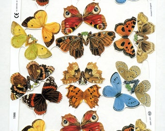 Butterfly and Moths SCRAP RELIEFS SET - Butterflies Scrap Reliefs - Butterfly Die Cuts - Die Cuts - Victorian Die Cuts - Nature Die Cuts