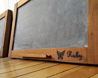 Large Rustic Chalkboard- Kitchen Chalkboard- Hanging Chalkboard - Framed Blackboard Sign- Chalk Pencil & Hardware Included