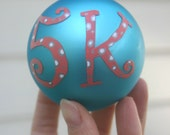 5K hand painted ornament- runners ornament