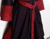 Custom Merchant Dress and Ring Belt in Linen