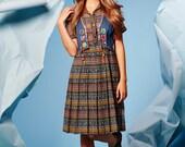 CLEARANCE SALE was 75 now 30 sweetest VINTAGE 70's patchwork patched denim jean vest waistcoat