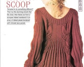 """Knitting pattern - Woman's """"Fashion Scoop"""" smock sweater jumper dress tunic - Instant download"""