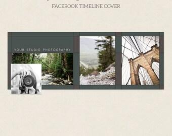 Facebook Timeline Cover - Facebook Timeline Template - PSD Template - Customize Facebook Page - Instant Download - F221
