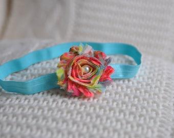 Neon Headband. 80's Chic Headband.Spring Headband. Baby Headband. Retro Fun Headband