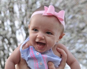 Pink Headband. Baby Headbands. Pink Bow. Hair Accessories. Pink Headband