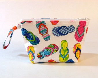 LIMITED SUPPLY - Flip Flops Make Up Bag - Accessory - Cosmetic Bag