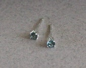 Small Blue Stud Earrings ...