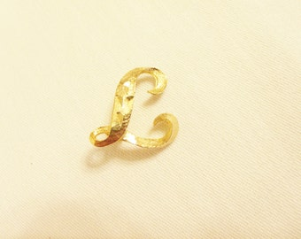 Vintage Brooch Mamselle Alphabet Initial L