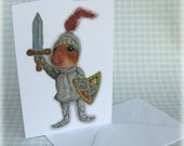 Knight Hamster Card Fairytale Greetings Hero Armour Camelot Humour Cute Funny