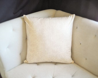 Cream, Off-White Abstract Tie-Dye 20x20 Print Pillow Cover