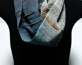 Narrow Handwoven Saori Inspired Multi-color Infinity Scarf