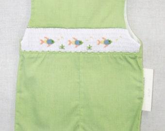 412041 A024- Baby Boy Jon Jon - Baby Boy Clothes - Easter Outfit - Baby Boy Romper - Siblings Outfits - Smocked Jon Jon - Boy Jon Jon