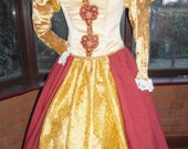 RESERVED for Erica Tudor gown with headress and matching jewellery Anne Bolyne princess stage party gown medieval queen christmas historical