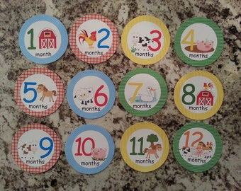 Farm Monthly Infant Stickers